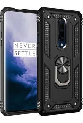 Tbkcase OnePlus 7 Pro Vega Yüzüklü Tank Kapak Kılıf Siyah