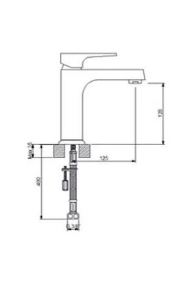 Newarc Aqua Lavabo Bataryası Altın 941528
