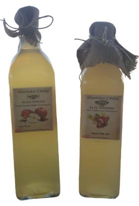 Doğal Elma Sirkesi 1 lt - 750 ml Doğal Alıç Sirkesi (Cam Şişe)