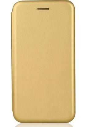 Cepmarketim Huawei Y7 2019 Cüzdanlı Kapaklı Kılıf - Gold