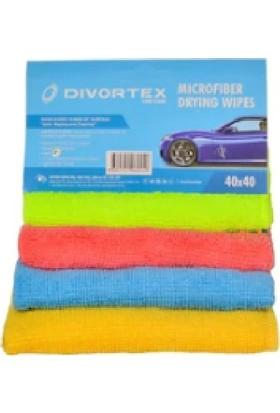 Divortex MikroFiber Bez 40 x 40 cm x 4 Adet (4 Farklı Renk)