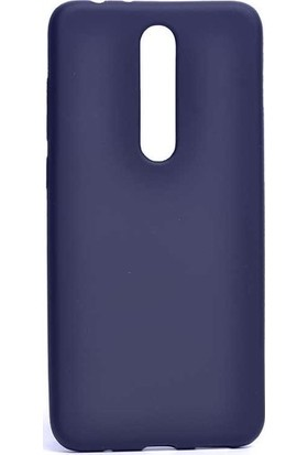 Gpack Nokia 3.1 Plus Kılıf Premier Silikon Esnek Koruma + Nano Glass Lacivert