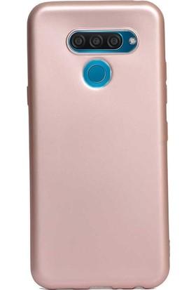 Gpack LG Q60 Kılıf Premier Silikon Esnek Arka Koruma Bronz