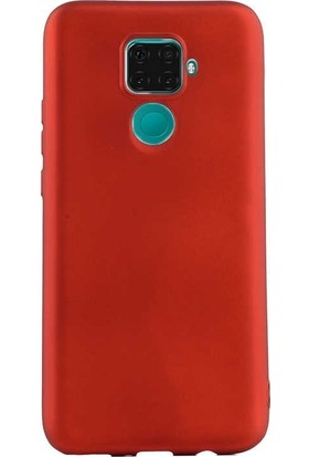 Gpack Huawei Mate 30 Lite Kılıf Premier Silikon Esnek Koruma + Nano Glass Kırmızı
