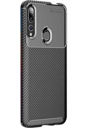 Gpack Huawei Y9 Prime 2019 Kılıf Negro Karbon Dizayn Silikon Siyah