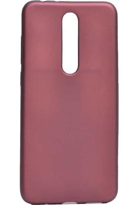 Gpack Nokia 3.1 Plus Kılıf Premier Silikon Esnek Arka Koruma Mürdüm