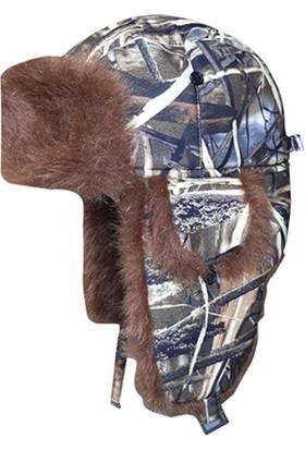 Effe Avcı Kışlık Kamuflaj Saz Desenli Şapka