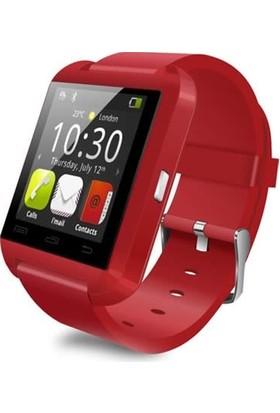 Gomax U8 Smart Watch Akıllı Saat Kırmızı