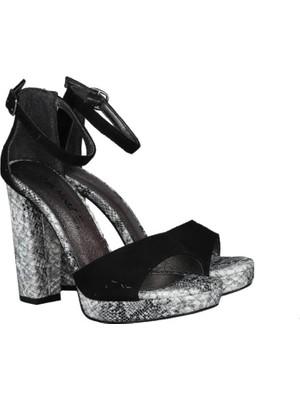 Miss Park Moda Dc 191-117 Siyah Suet Kadın Ayakkabı