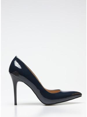 Rovigo Plus Lacivert Rugan Kadın Stiletto