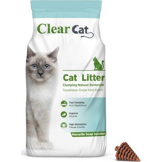 Clear Cat Marsilya Sabunu Kokulu 5 Kg İnce Taneli Bentonit Kedi Kumu