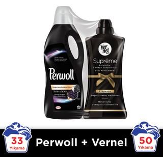 Perwoll Siyah 2 lt Sıvı Çamaşır Deterjanı + Vernel Elegance 1200 ml Yumuşatıcı