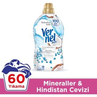 Vernel Max Mineral & Hindistan Cevizi Konsantre Çamaşır Yumuşatıcısı 1440ml, 60 Yıkama