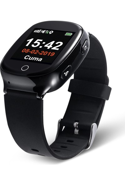 Tsmart S03 GPS Akıllı Yetişkin Alzheimer Saati - Siyah