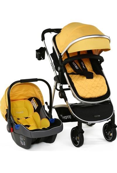 Yoyko City Seyahat Sistem Bebek Arabası 3 İn 1 Sarı Silver