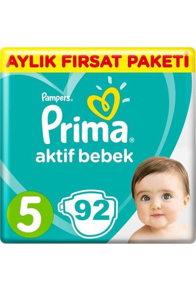 Prima Bebek Bezi Aktif Bebek 5 Beden 92 Adet Junior Aylık Fırsat Paketi