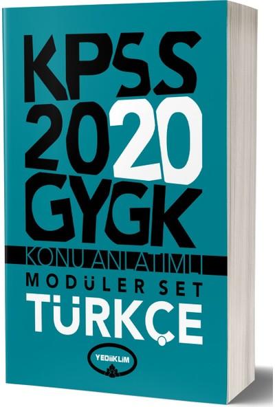 Yediiklim Yayınları 2020 Genel Kültür Genel Yetenek Konu Anlatımlı Modüler Set