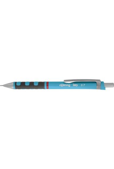 Rotring Tikky Okul Seti 0.7 mm Açık Mavi Versatil Kalem + Silgi + Uç
