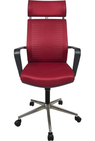 Mertsit Efor Kırmızı Fileli Ofis Koltuğu Büro Koltuğu