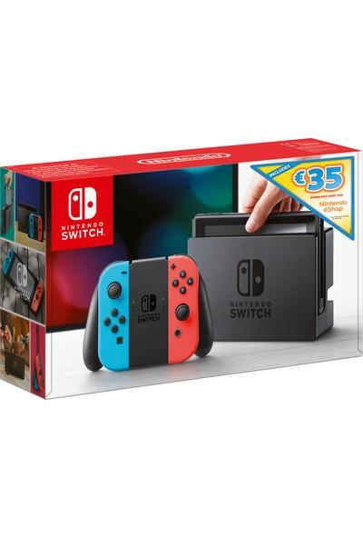 Nintendo Switch Konsol (Kırmızı/Mavi) + Nintendo eShop Kuponu (Resmi Distribütör Ürünü)