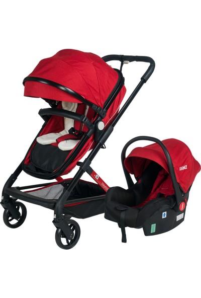 Kanz Veyron Travel Sistem Bebek Arabası Kırmızı