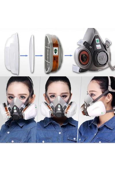 3M Kullanıma Hazır Full Set 3M 6200 - 7 Parça 1 Arada - Gaz Ve Toz Maskesi