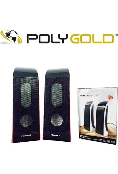 PolyGold PG-260 2.0 USB 1+1 Speaker