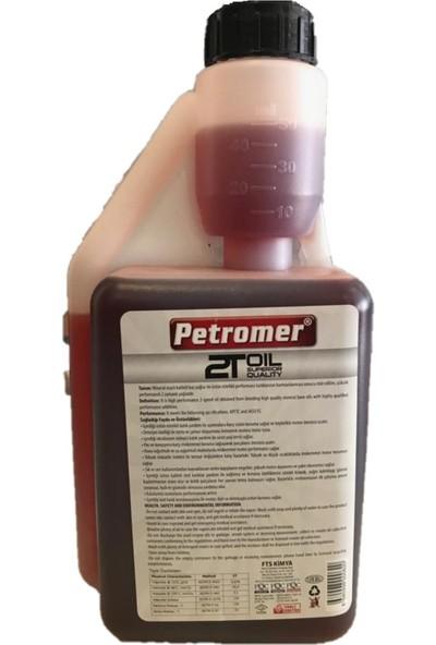 Petromer 2 Zamanlı Performans Yağı Ölçekli 1 lt