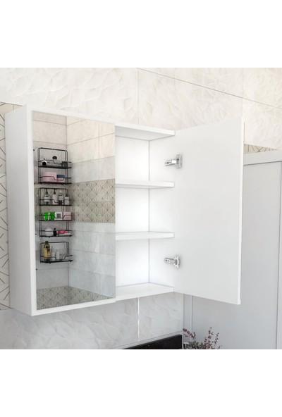 Tedarik Center 2 Kapaklı Aynalı Banyo Dolabı Makine Üstü
