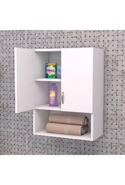 Tedarik Center 2 Kapaklı 1 Bölmeli Banyo Dolabı Makine Üstü Dolap