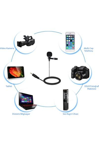 Arimic Dslr Fotoğraf Makinası Için Arimic Kablolu Yaka Mikrofonu Youtuber Mikrofonu