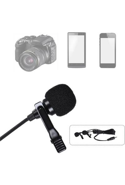 Arimic Lavalier Çift Kafa Kablolu Youtuber Yaka Mikrofonu 6m