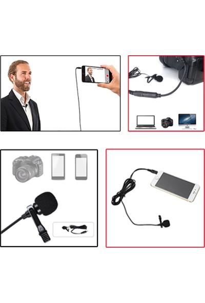 Arimic Cep Telefon Için Arimic Kablolu Yaka Mikrofonu Youtuber Mikrofonu