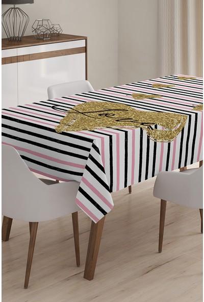 Aşk Temalı Dijital Baskılı 3D Masa Örtüsü - 140 x 180 cm