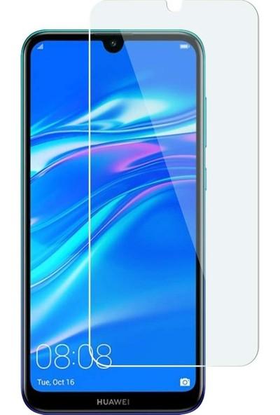 Dafoni Huawei Y7 2019 Tempered Glass Premium Cam Ekran Koruyucu