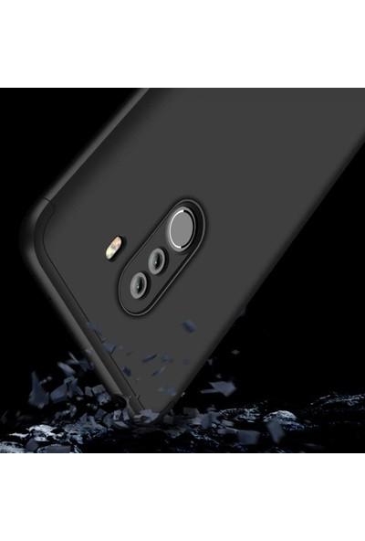 Eiroo Xiaomi Pocophone F1 Protect Fit 360 Derece Koruma Siyah Rubber Kılıf