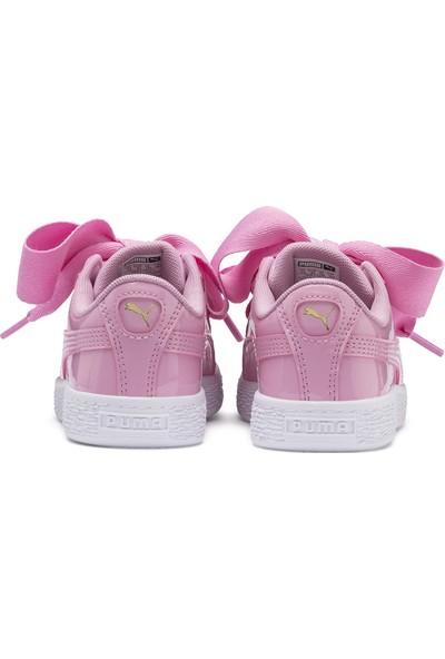 Puma Çocuk Basket Heart Patent PS Spor Ayakkabı 36335203
