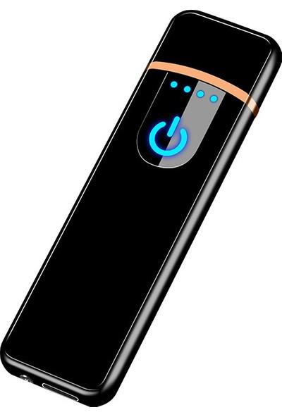 Schulzz Usb Dokunmatik Ekran Şarjlı Rezistanslı İnce Premium Seri Çakmak