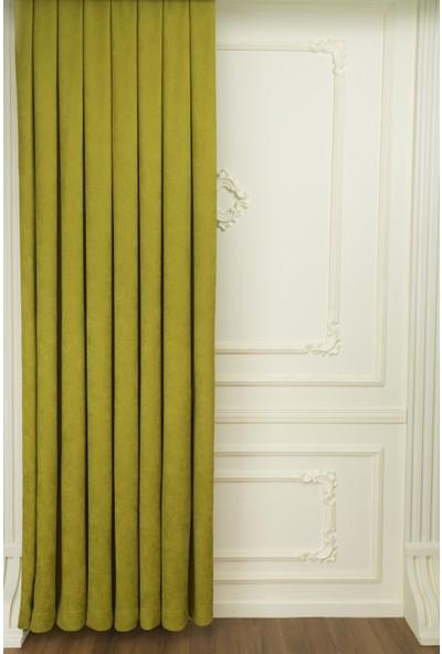 Fersa Decor Petek Yağ Yeşili Fon Perde 140 x 270 cm