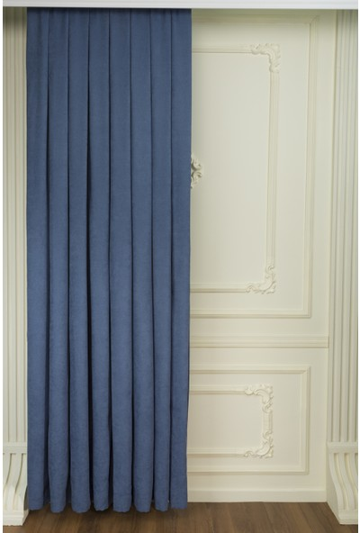 Fersa Decor Petek Indigo Fon Perde 70 x 260 cm