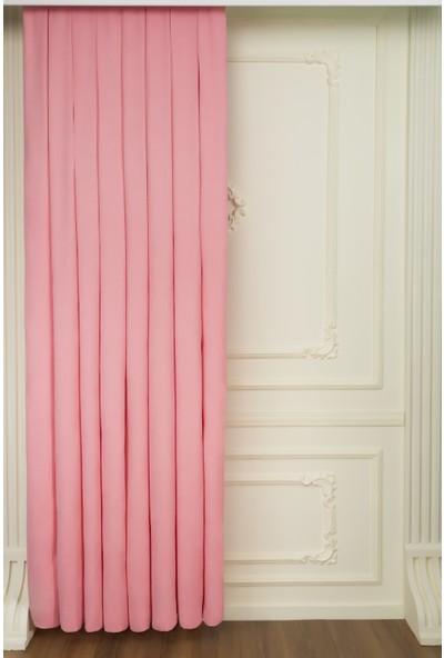 Fersa Decor Petek Açık Pembe Fon Perde 120 x 250 cm