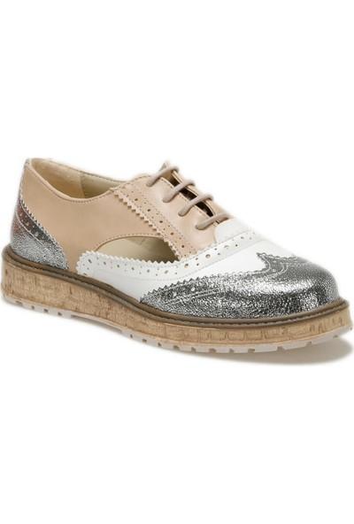 Butigo 19S-505 Gümüş Kadın Maskulen Ayakkabı