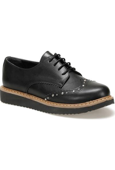 Butigo 19K-456 Siyah Kadın Maskulen Ayakkabı