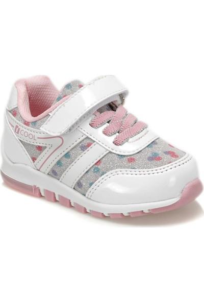 i Cool Emotion Beyaz Multi Kız Çocuk Sneaker Ayakkabı