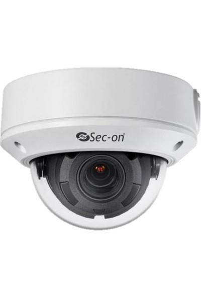 Sec-On Sc-Dm4302-S 4Mp Motorize Ip Dome Network Güvenlik Kamera