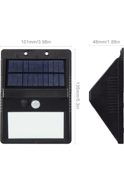 Twinix Güneş Enerjili Aydınlatma 30 Ledli Portatif 3 Fonksiyonlu