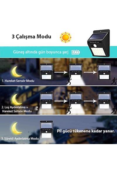 Twinix Güneş Enerjili 30 Ledli Aydınlatma 3 Fonksiyonlu