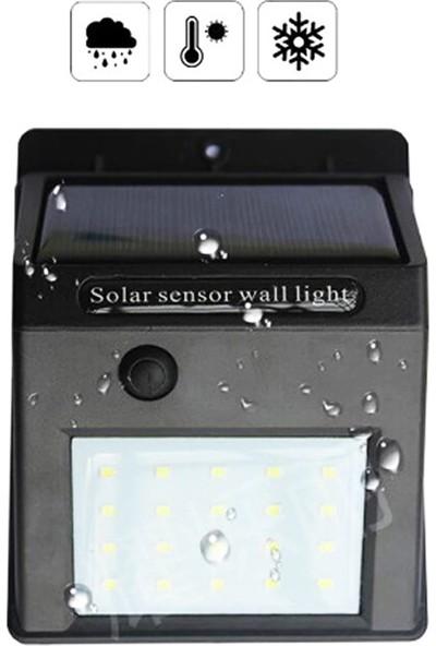Twinix Güneş Enerjili Aydınlatma 20 Ledli Sürekli Yanma Modlu Hareket Sensörsüz