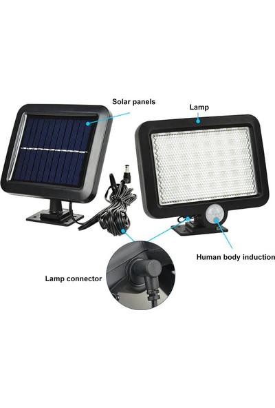 Twinix Güneş Enerjili 56 Ledli Aydınlatma Portatif Hareket ve Karanlık Sensörlü Su Geçirmez Dış Mekan Aydınlatma