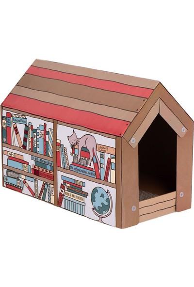 Lider Tırmalama Matlı Karton Kedi Evi 50 x 26 x 36 cm